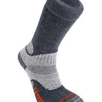 BridgedaleMen's Woolfusion - Calcetines para senderismo, hombre, color gris - gris, tamaño Size 12 Plus