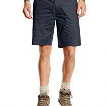 Black Hendedura para hombre pantalones de senderismo