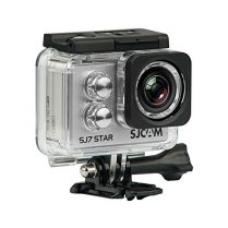 SJCam SJ7 Star - Cámara deportiva (4K, WiFi, 16 MP, pantalla táctil 2.0'', SuperView, sumergible 30 m) color plata
