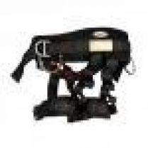 Gazechimp Arnés de Seguridad Cinturón para Rapel Montañaismo Escalada de Negro Cómodo de 22KN