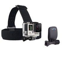 GoPro Headstrap + QuickClip - Pack de accesorios para cámaras digitales GoPro Hero, color negro